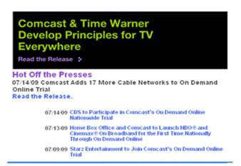 Comcast CBS on demand online