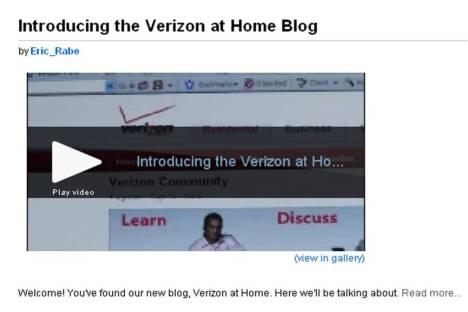 Verizon at Home Blog