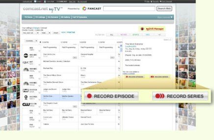 Comcast myDVR manager Motorola set-top