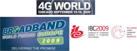 Broadband World Forum 4G World IBC Motorola