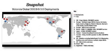 Motorola DOCSIS 3 Deployments Global Snapshot