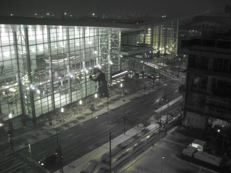 Colorado Convention Center with snow