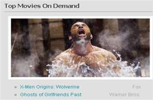 Comcast top movies on demand
