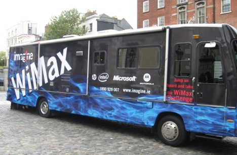 Imagine WiMAX demo vehicle Motorola Ireland