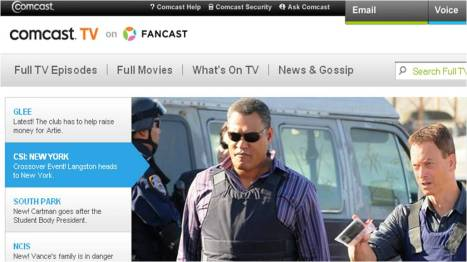 Comcast Fancast tv everywhere